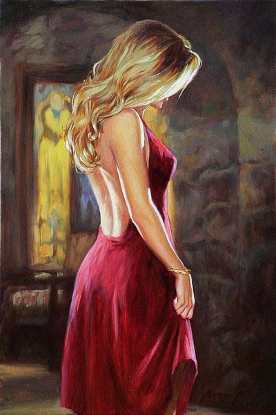 блондинка в красном (400x600, 210Kb)