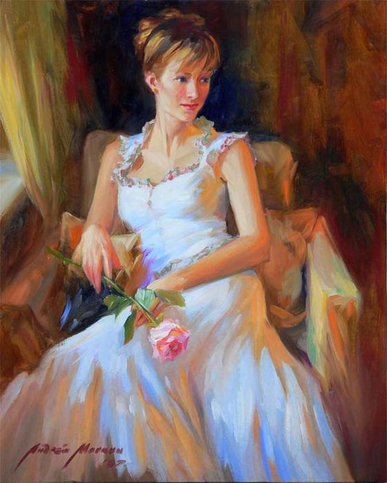 дама в белом (560x700, 404Kb)