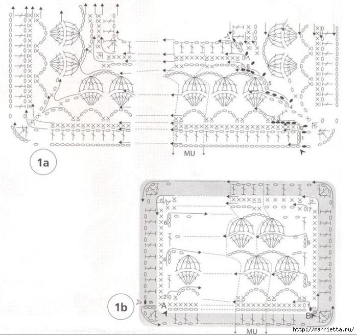 Стильное вязание крючком для дома. Схемы (20) (700x657, 243Kb)