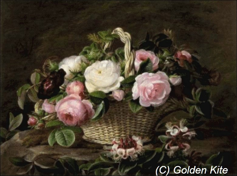 1199 A Basket of Pink and
