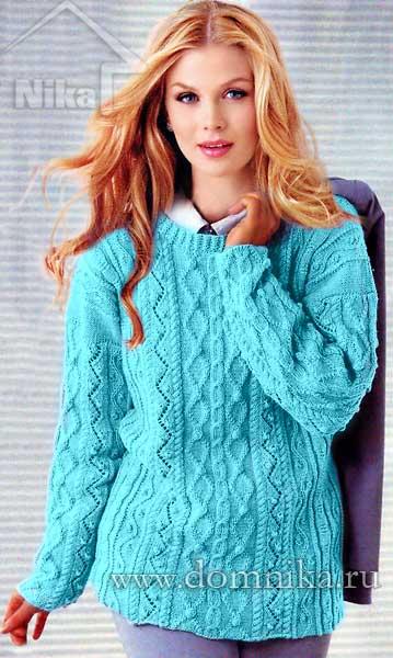 Узорчатый свитер связан