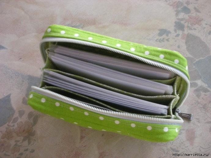 Как сшить сумочку-портмоне. Выкройка и мастер-класс (13) (690x517, 177Kb)