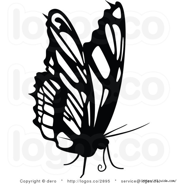 royalty-free-black-and-white-butterfly-logo-by-dero-2895 (600x620, 128Kb)