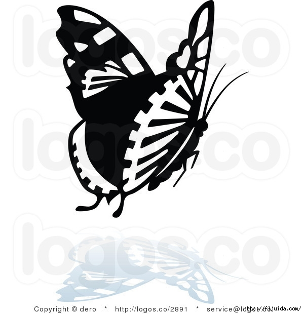 royalty-free-butterfly-with-a-reflection-logo-by-dero-2891 (600x620, 120Kb)