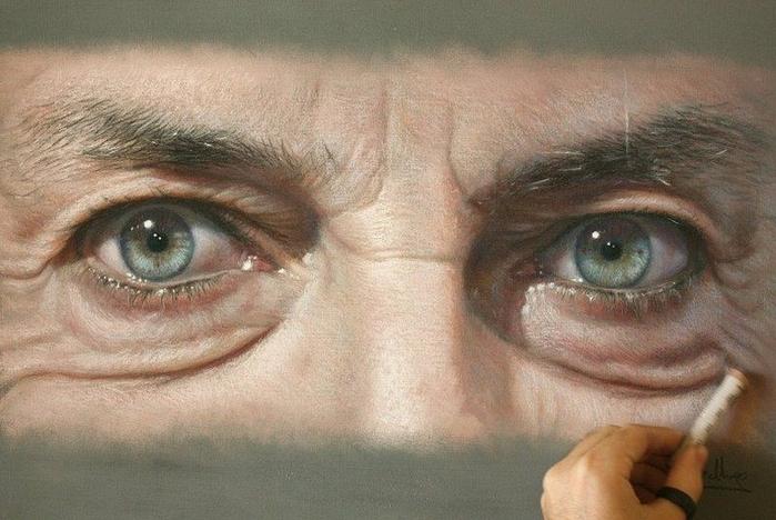 фотореалистичные портреты художника Рубена Беллосо Адорна 1 (700x468, 322Kb)
