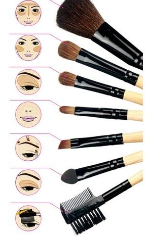 Назначение кисточек для макияжа