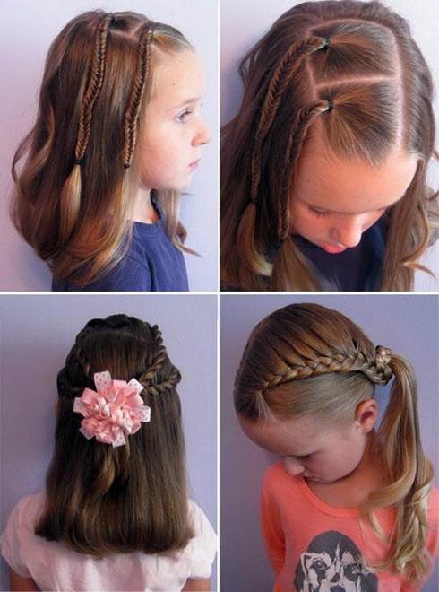 Причёска на 1 сентября 1 класс на средние волосы