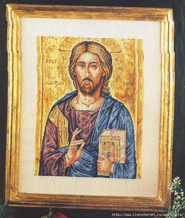 Вышивка крестом, схемы Икона