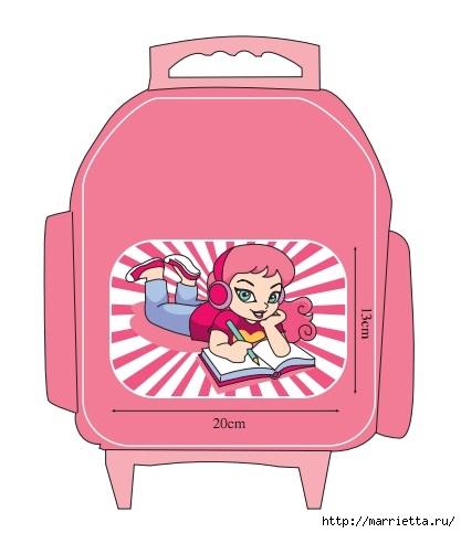 Ковровая вышивка в украшении детского школьного рюкзачка (2) (417x483, 80Kb)