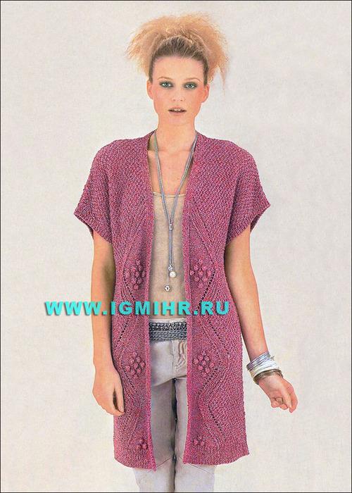 Вязание модных безрукавок для женщин