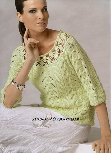 Вяжем женские пуловеры,кофты