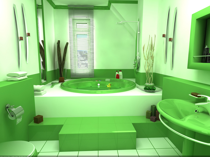 зеленая-ванная (699x523, 254Kb)