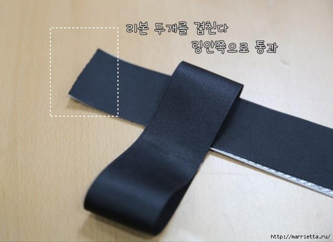 Украшаем бантиками из ленточек заколки для волос. Мастер-классы (3) (673x489, 137Kb)