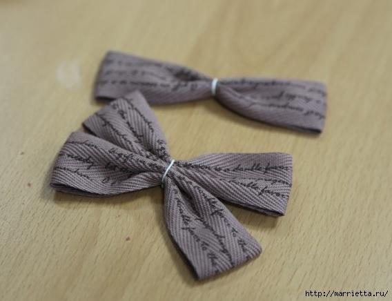Украшаем бантиками из ленточек заколки для волос. Мастер-классы (19) (568x436, 114Kb)