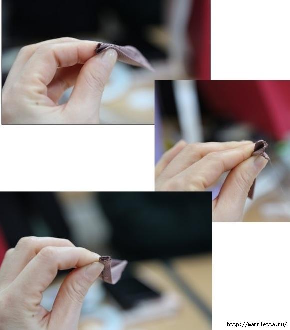 Украшаем бантиками из ленточек заколки для волос. Мастер-классы (23) (580x659, 115Kb)