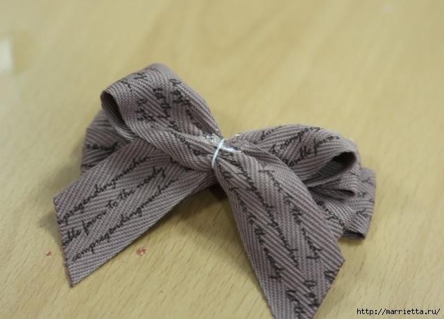 Украшаем бантиками из ленточек заколки для волос. Мастер-классы (25) (640x460, 135Kb)