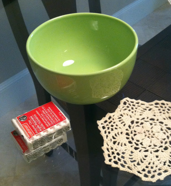 Чаша с кружевным оттиском из полимерной глины