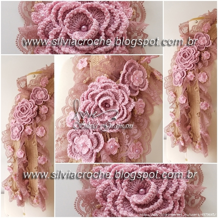 Silvia Gramani cachecol deusa 2 tons de rosa II (700x700, 483Kb)