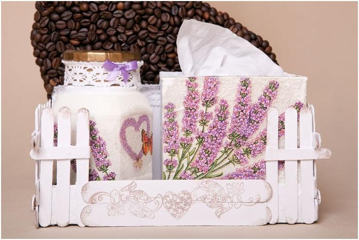 Gato de café con un jardín y valla) Composición decorativa para la cocina (2) (700x468, 236Kb)
