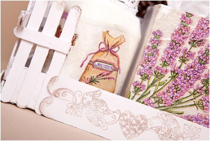 Gato de café con un jardín y valla) Composición decorativa para la cocina (4) (700x468, 273Kb)