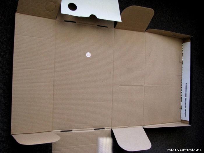 Кашпо для комнатных цветов из картонной коробки и упаковочной бумаги (2) (700x525, 254Kb)