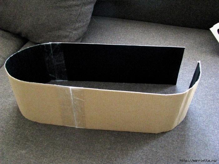 Кашпо для комнатных цветов из картонной коробки и упаковочной бумаги (6) (700x525, 321Kb)