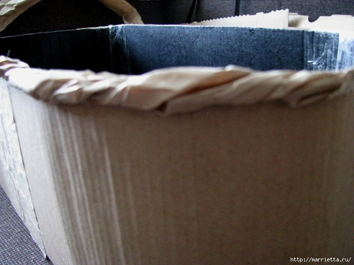 Кашпо для комнатных цветов из картонной коробки и упаковочной бумаги (14) (700x525, 267Kb)