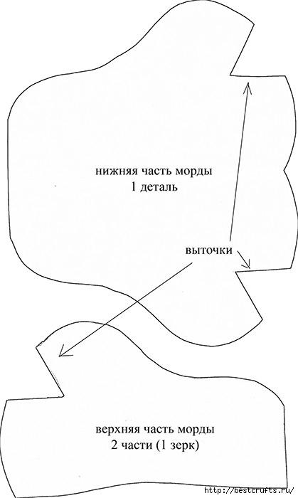 шьем игрушки. черепаха и бегемотик с выкройками (4) (419x700, 71Kb)