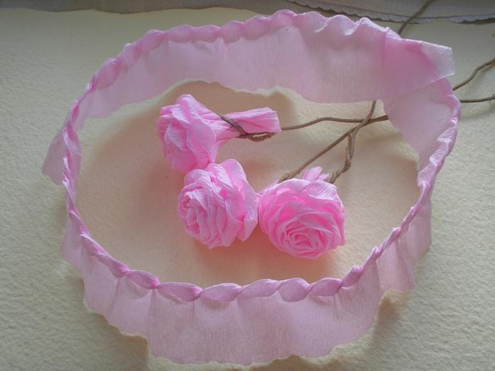 Как сделать розу из гофры бумаги