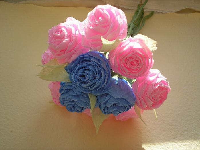evlynpartage faire des roses en papier cr pon tuto. Black Bedroom Furniture Sets. Home Design Ideas