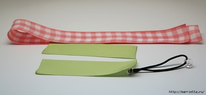 розочка из ленточки для украшения резиночки для волос (3) (700x324, 82Kb)