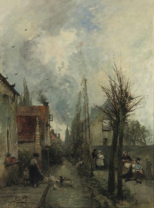 Au bord du canal, Delft (512x692, 226Kb)
