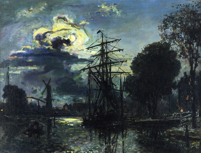 Canal in the Moonlight (700x536, 489Kb)