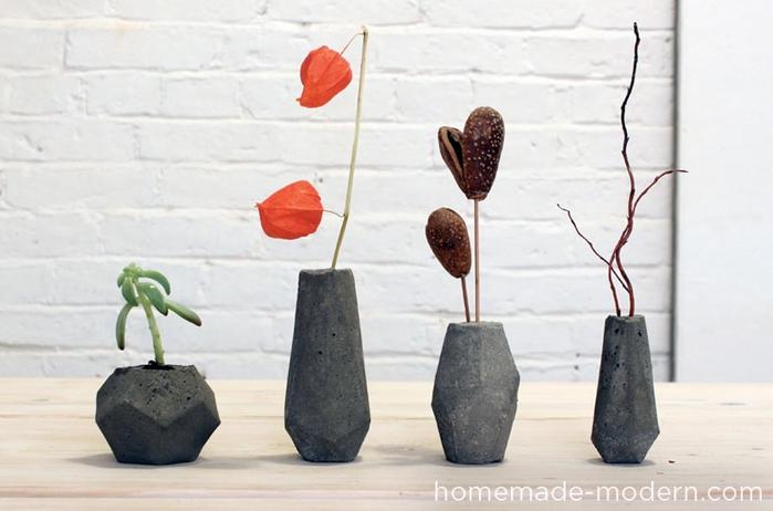 Свечи и гипсовые вазочки геометрической формы. Шаблоны и мастер-класс (15) (700x462, 177Kb)
