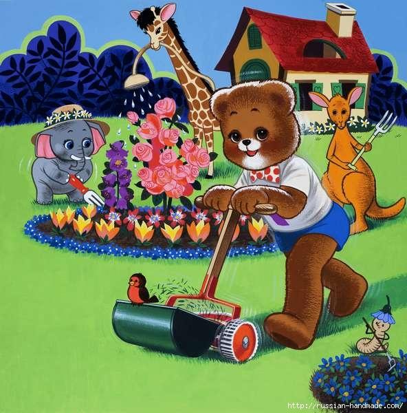 Веселые иллюстрации с мишками от Уильяма Фрэнсиса Phillipps (28) (592x600, 210Kb)