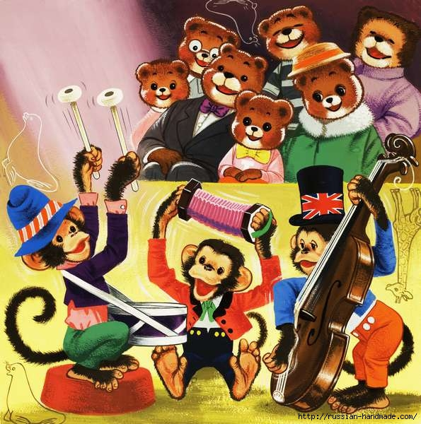 Веселые иллюстрации с мишками от Уильяма Фрэнсиса Phillipps (29) (595x600, 253Kb)