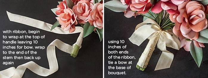 венки и свадебные букеты из бумажных розочек (5) (698x263, 137Kb)