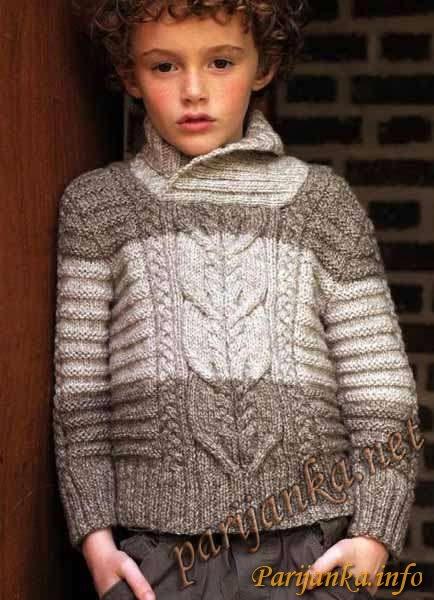 Связать свитер для мальчика
