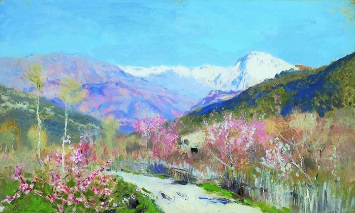 Весна в Италии. 1890 (700x420, 56Kb)