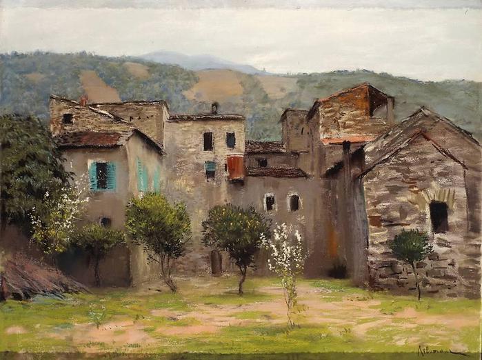Близ Бордигеры. На севере Италии. 1890 (700x522, 68Kb)