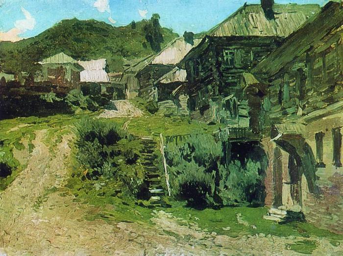 Уголок в Плёсе. 1888 (700x522, 92Kb)