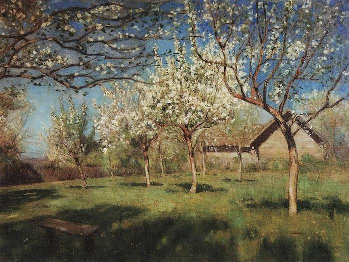 Цветущие яблони. 1896 (700x525, 92Kb)