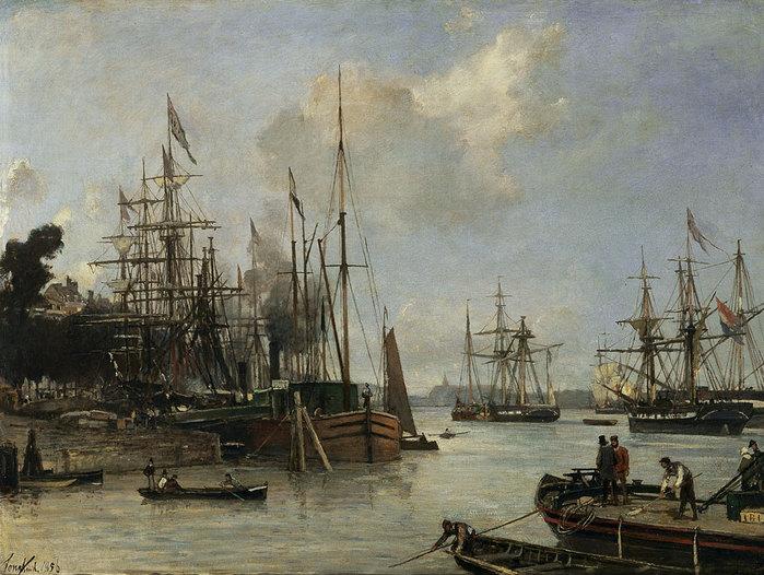 4000579_Vista_del_puerto_en_Rotterdam_Fecha_1856 (700x526, 115Kb)