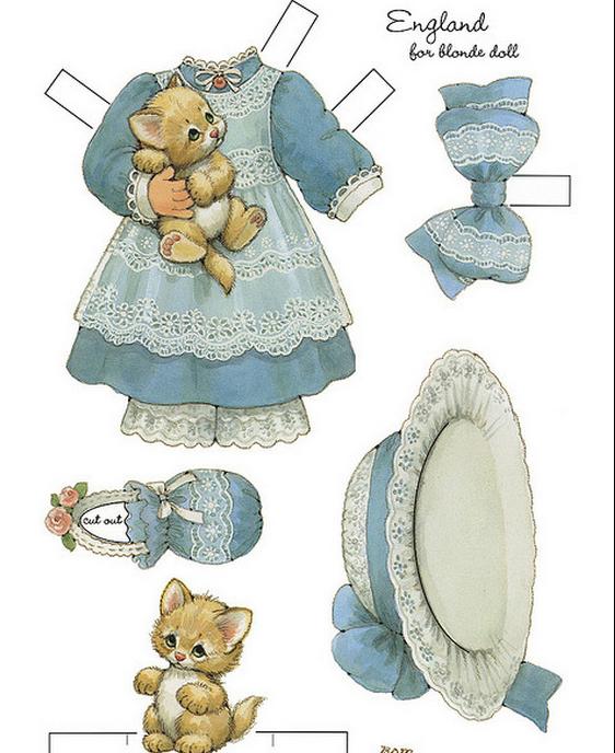 Бумажные вырезалки - одевалки для девочек (1) (562x688, 555Kb)