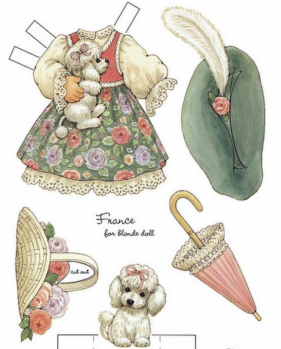 Бумажные вырезалки - одевалки для девочек (7) (558x693, 626Kb)