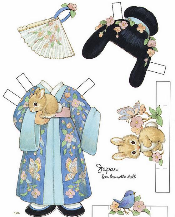 Бумажные вырезалки - одевалки для девочек (9) (560x696, 602Kb)