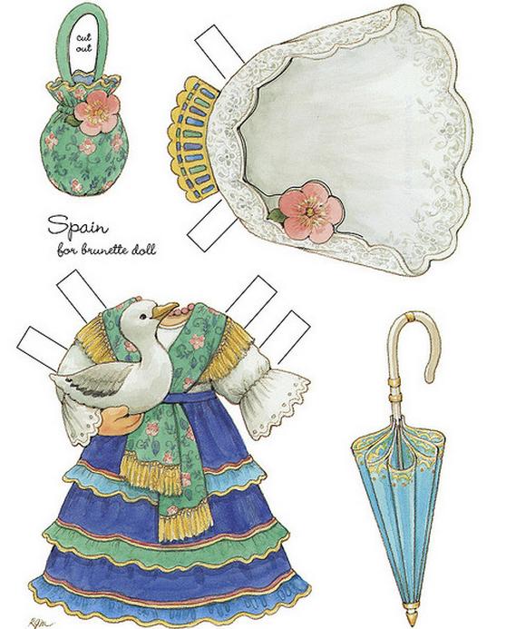 Бумажные вырезалки - одевалки для девочек (15) (558x693, 602Kb)
