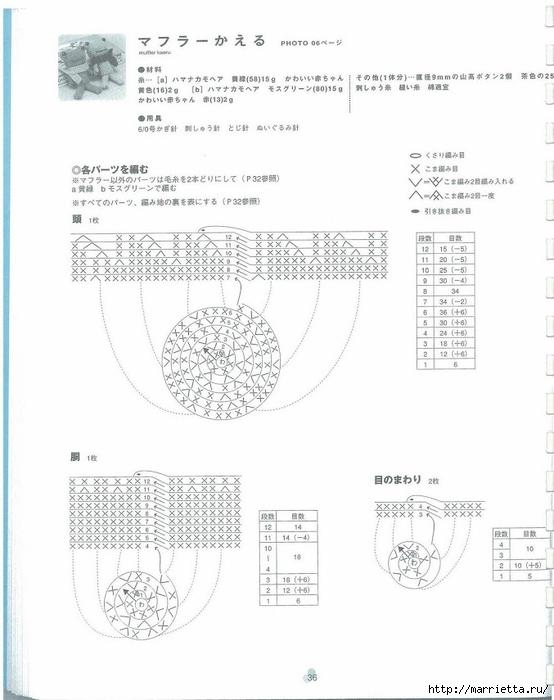 Игрушки АМИГУРАМИ крючком. Японский журнал со схемами (37) (554x700, 163Kb)