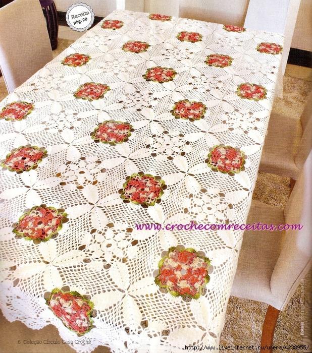toalha de mesa croche com