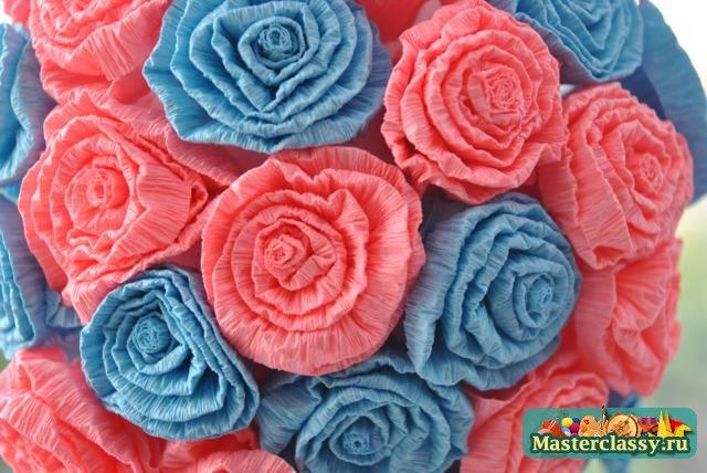 Розы из салфеток мастер класс с пошаговым фото для начинающих